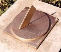"Brass sundial with the ""line of light"""